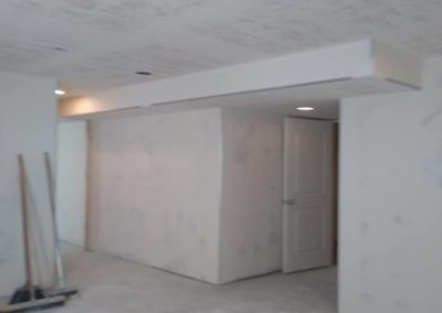 drywall and mudding in basement